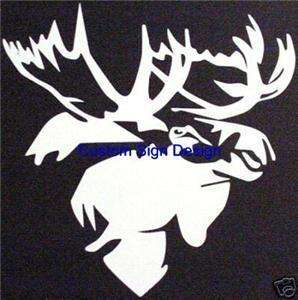Moose Hunting Antler Trophy Car Window Decal Sticker