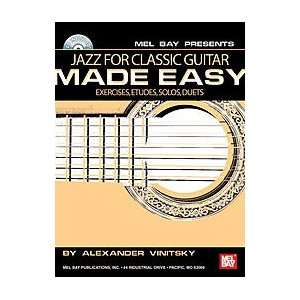Jazz for Classic Guitar Made Easy Book/CD Set Electronics
