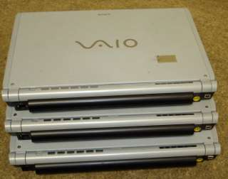 Lot of 3 SONY VAIO VGN TX770P Laptop Notebook 80GB 1.3GHz 1GB Power