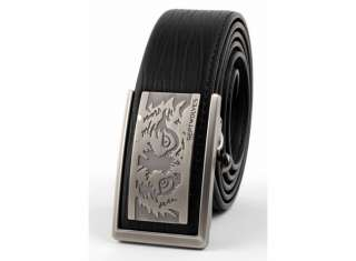 NWT Mens Style Belt Leather Fashion Wolf Totem 30 50