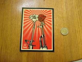 MINT Large Obey Guns & Roses Sticker   Shepard Fairey BUY