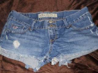 Hollister & Abercrombie Junior Womens Clothing Lot Shorts Shirts Size