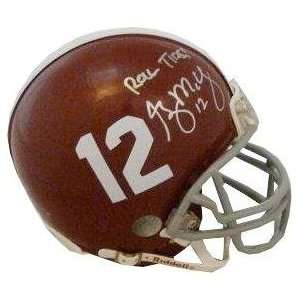 Greg McElroy signed Alabama Crimson Tide Replica Mini