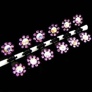 SHIPPING 6 bridal flower rhinestone mini hair claw pin wedding