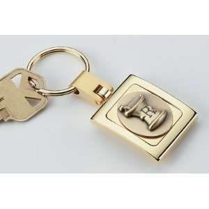 Brass Key Tag with Oval M&P Logo