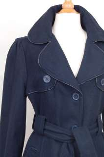 Womens Wool Trench Coat Long Belted Ladies Jacket NEW XL 2XL 3XL Big