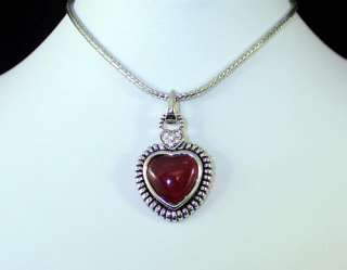 CHERRY AMBER AUSTRIAN RHINESTONE CRYSTAL NECKLACE PENDANT CHAIN