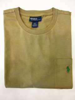 NWT RALPH LAUREN POLO CREW NECK POCKET MENS SHORT SLEEVE T SHIRT SIZE