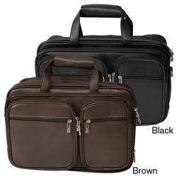 Traveler Jourdan Leather Expandable Computer Briefcase