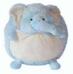 American Mills 7 inch Round Plush Elephant Pillow