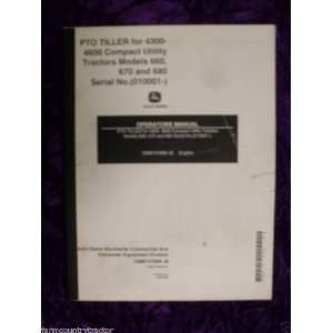 John Deere PTO Tiller for 4300/4600 OEM OEM Owners Manual John Deere