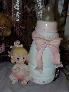 BABY SHOWER PINK BABY BOTTLE GIRL PARTY CENTERPIECE
