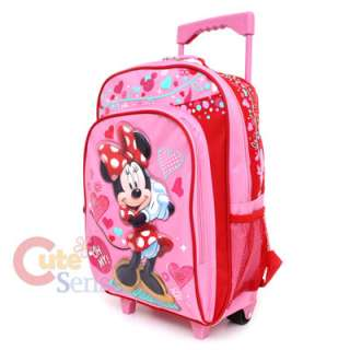 Disney Minnie Mouse Roller Backpack Large Rolling Bag  Sugar Sweet
