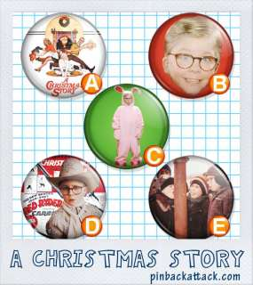 Christmas Story 1 one inch buttons/badges/pins 5/Set