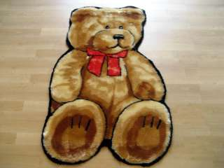 TEDDY BEAR FAUX FUR RUG PLAYMAT 2X4 NEW!