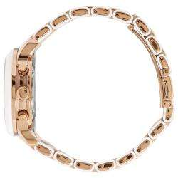 Kors Womens Two tone Rose gold Silicone Bracelet Watch