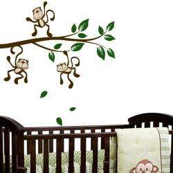Vinyl Monkey Around on a Branch Wall Decal