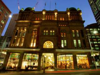 Queen Victoria Building at Night, Sydney, New South Wales, Australia