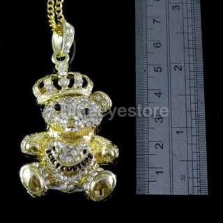 Crystal Crown bear Necklace USB 2.0 Flash Memory Pen Stick Drive