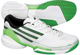 Adidas Adizero Feather Mens Tennis Shoe White/Blk/Green