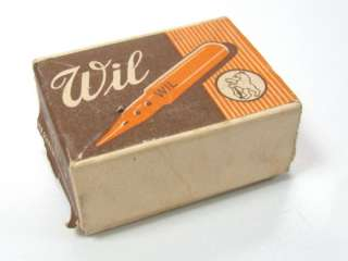VINTAGE GERMAN WIL PEN NIB SET 100 PAPER BOX