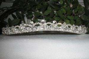 FRENCH CLEAR AUSTRIAN RHINESTONE HEADBAND TIARA BRIDAL