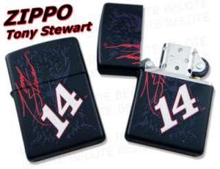 Zippo NASCAR Tony Stewart Black Matte Lighter 28000 NEW