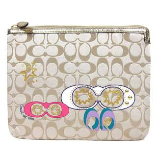 New**COACH SIGNATURE IPAD, XOOM, TABLET SLEEVE CASE BAG POUCH F61020