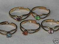 Crystal Kids Adjustable Birthstone Ring
