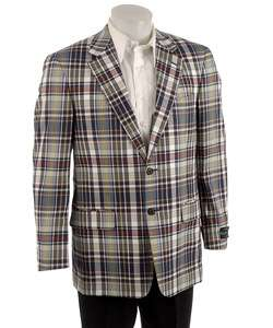 Alexander Julian Colours Mens Plaid Blazer