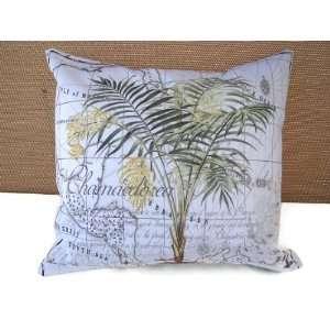 Tropical Palm Tree Toss Pillow 14 X 14 Beach Ocean