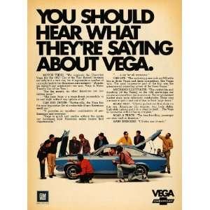 1971 Ad Vega Chevrolet Car of the Year General Motors
