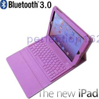 Bluetooth 3.0 Wireless Keyboard Leather Cover Case For The New IPAD 3