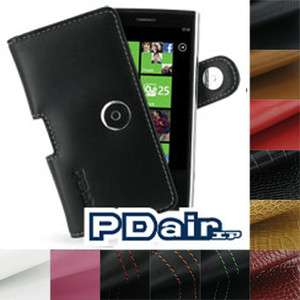 PDair Genuine Black Leather P01 Case for Dell Venue Pro