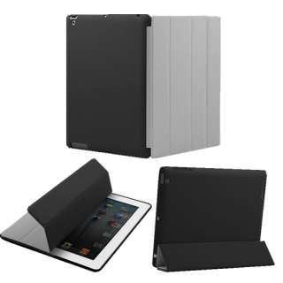 Grey Smart Front Cover Back Hard Case for Apple iPad 2