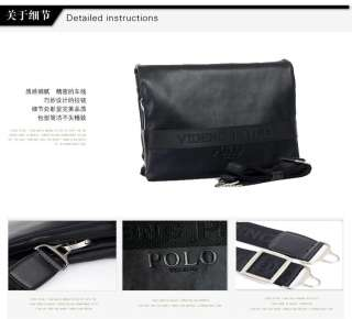 Polo black Mens Leather shoulder bag messenger & gifts
