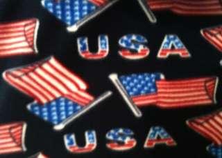 e734a2b52d92a ... Fleece fabric BTY  USA American Flag