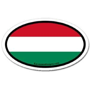 Hungary Flag Car Bumper Sticker Decal Oval