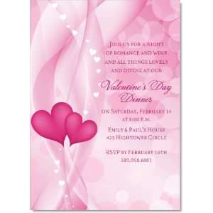 Two Hearts Intertwined Valentines Day Invitations Health