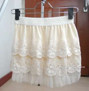 style mesh lace crochet short mini dress skirts beige size xs s