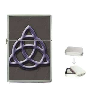 Triquetra Pagan Wiccan Celtic Symbol Chrome Lighter
