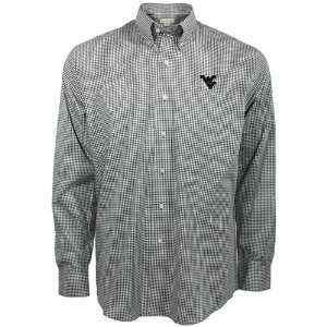 West Virginia Mountaineers Navy Blue Gingham Spirit Button up Shirt