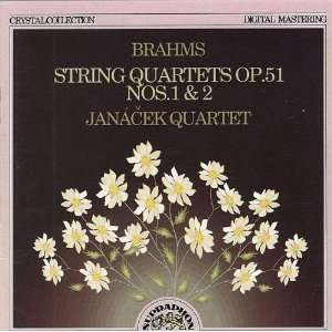 String Quartets Brahms, Janacek Quartet Music