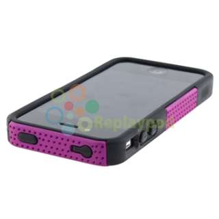Hard/Silicone Soft Case Cover+PRIVACY FILTER for iPhone 4 4S
