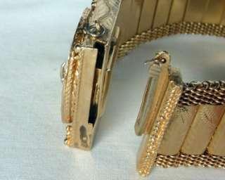IMPRESSIVE 14K GOLD RETRO ART DECO COVERED DIAMOND BRACELET TASSEL