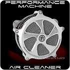 PERFORMANCE MACHINE ELEMENT CHROME AIR CLEANER HARLEY T
