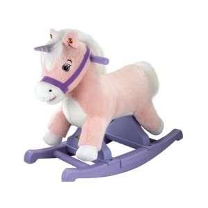 Tek Nek Rockin Rider Deluxe Unicorn Plush Rocker: Toys & Games
