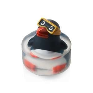 Bath & Body Works Clearly Fun Soap Natural Glycerin Soap with Penguin