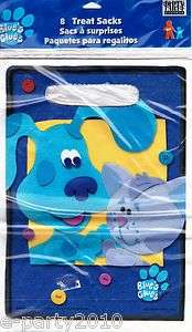 BLUES CLUES Birthday Party Supplies ~8 htf TREAT SACKS