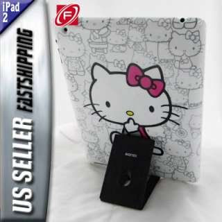 Hello Kitty Hard Case +Free Screen Protector For iPad 2